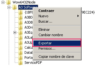 A3 Software exportar