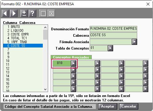 formula 810 resumen nomina