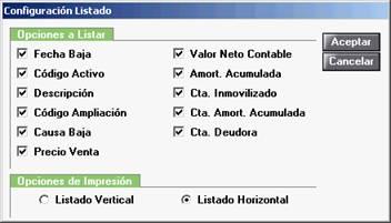 Configurar listado
