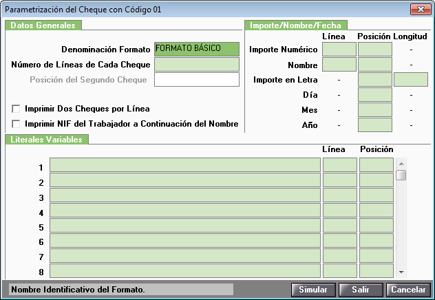 tabla formato cheque