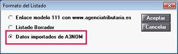 Datos importados de A3NOM
