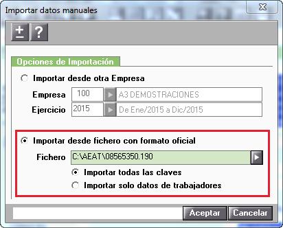 Importar datos manuales formato oficial