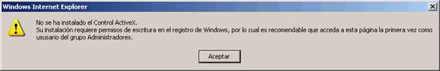 Mensaje Windows Internet Explorer