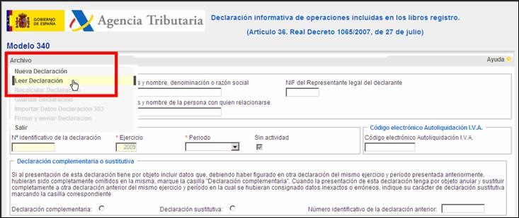 Leer Declaración en la página Web de la Agencia Tributaria