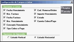 Configuración de campos