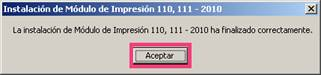 Instalación del Módulo de Impresión