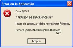 error 9043