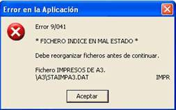 error 9041