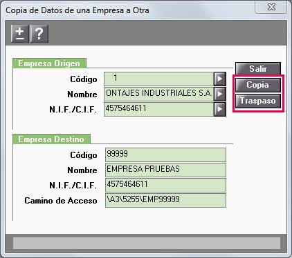 copia datos empresa