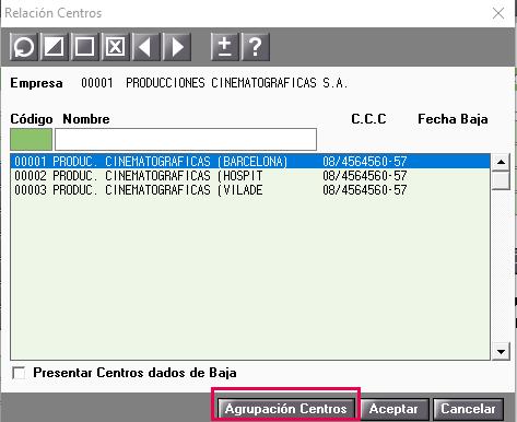 centros de trabajo con el mismo CCC