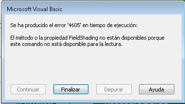 Error 4605