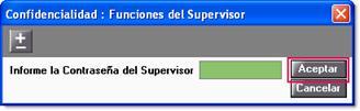 contraseña supervisor