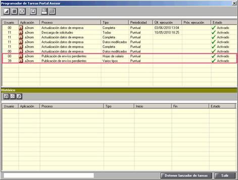 Programador de Taresa Portal Asesor