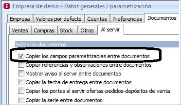 Datos generales   parametrización
