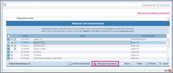 """Confidencialidad por categorías de documentos en """"Comunicados"""""""