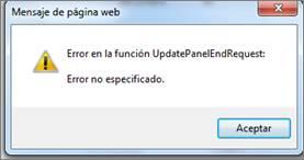 Error no especificado