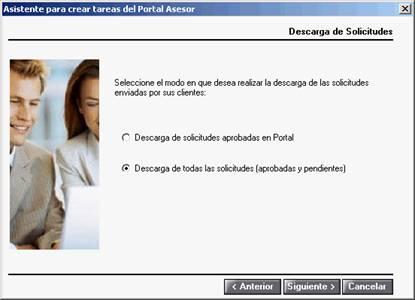 Asistente para crear tareas del Portal Asesor - Descarga de solicitudes