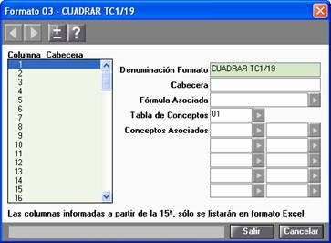 cuadrar tc1 19