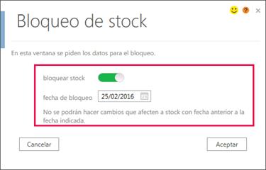 Bloqueo de Stock