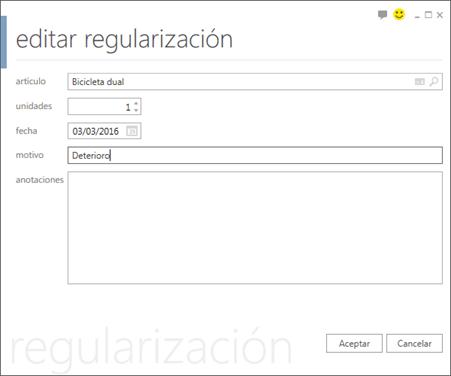 Editar regularización