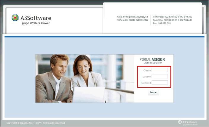Portal AsSESOR Administración