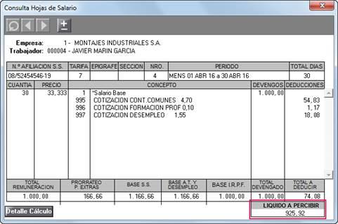 Ejemplo pr ctico sobre el proceso de c lculo de la paga for Ejemplo nomina trabajador