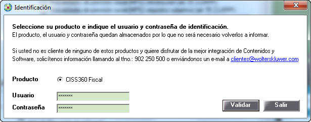 Identificación CISS360 Fiscal